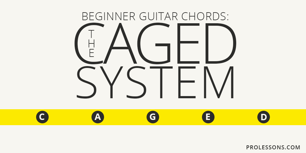 Beginner Guitar Chords The Caged System